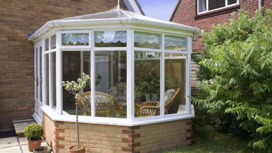 A conservatory that has been built for a residential customer