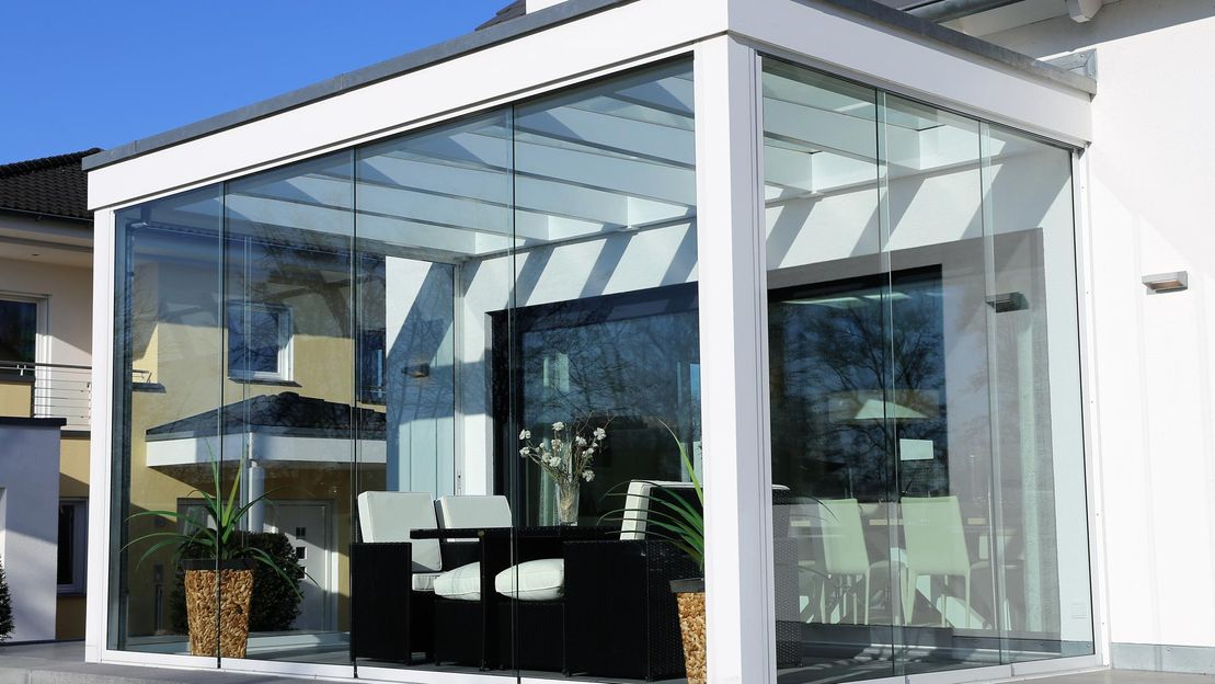 A modern conservatory that has been built by our team